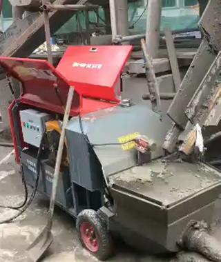 15kw电动混凝土浇筑泵施工中